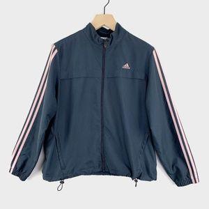 adidas Jackets & Coats - Adidas Vintage Jacket 3 Stripes Gray Pink XL